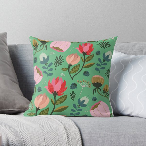 Pretty Florals Throw Pillow