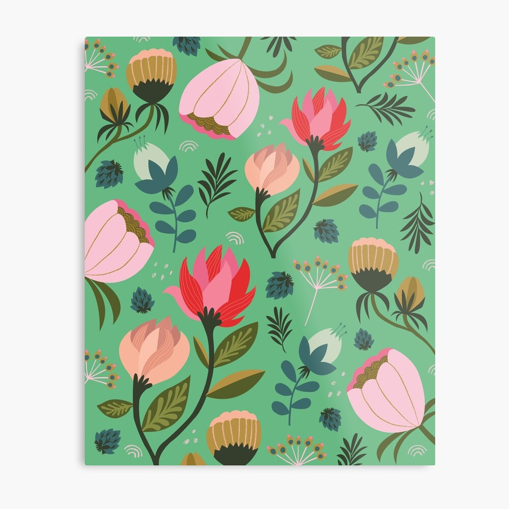 Pretty Florals Metal Print