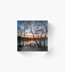 Firestone Copse Sunset Acrylic Block
