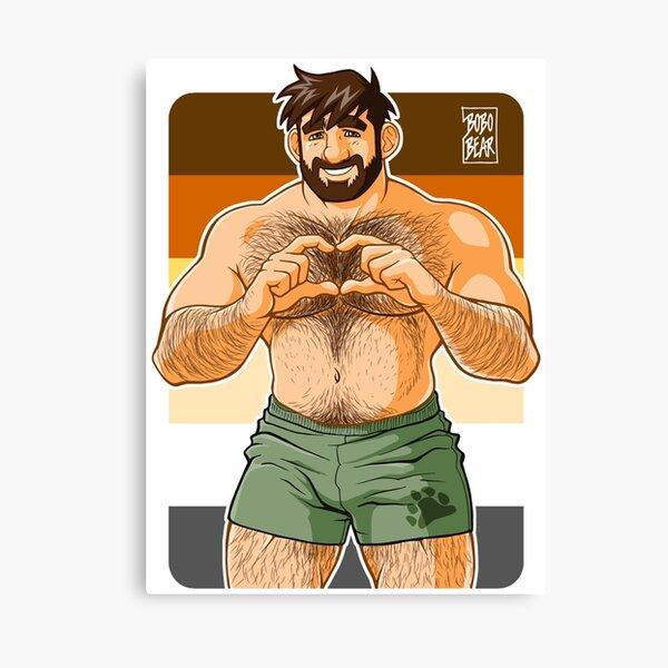 ADAM I LOVE YOU - BEAR PRIDE Canvas Print