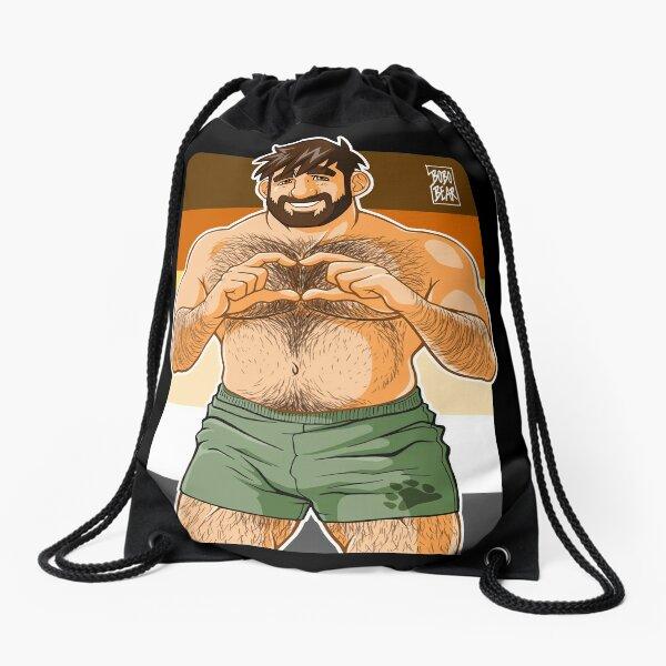 ADAM I LOVE YOU - BEAR PRIDE Drawstring Bag