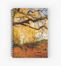 Autumns Golden Colours Spiral Notebook