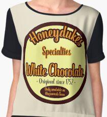 Honeydukes Chocolate - White Version Women's Chiffon Top