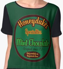 Honeydukes Chocolate - Mint Version Women's Chiffon Top
