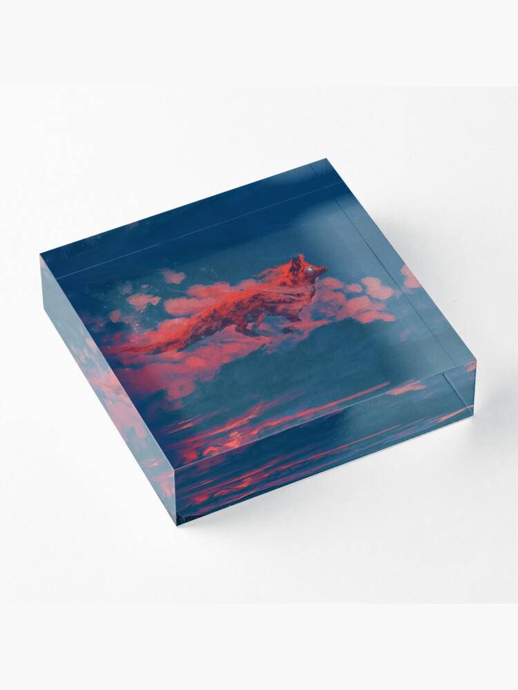 Alternate view of The Twilight Fox Acrylic Block