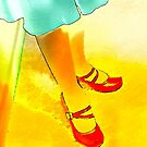 RED SHOES YELLOW FLOOR NOT ROAD   by scarletjames