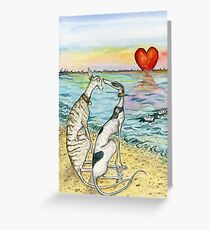 Two Paper Boats Greeting Card