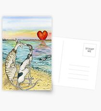 Two Paper Boats Postcards