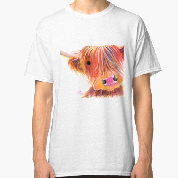 Scottish Highland Cow PRiNT ' SWEET SATSUMA ' by Shirley MacArthur Classic T-Shirt
