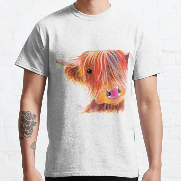 Scottish Highland Cow PRiNT ' SWEET SATSUMA ' by Shirley MacArthur Classic T-Shirt