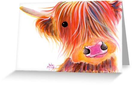 Schottische Hochlandkuh PRiNT 'SWEET SATSUMA' von Shirley MacArthur von Shirley MacArthur