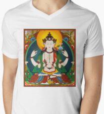 TIBETAN ART : Vintage Buddha Avalokiteshvara Print T-Shirt