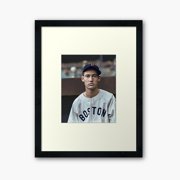 Ted Williams - Colorized Portrait Framed Art Print
