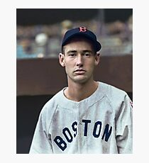 Ted Williams - Colorized Porträt Fotodruck