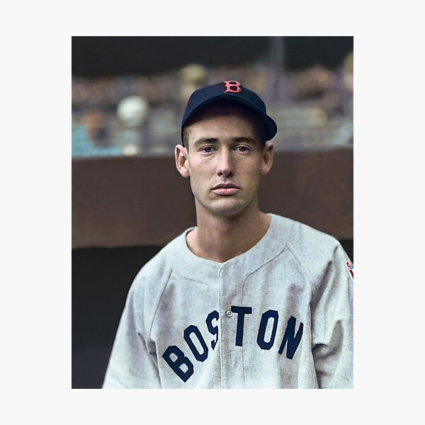 Ted Williams - Colorized Portrait Photographic Print