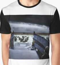 Men of the 16th Infantry Regiment, U.S. 1st Infantry Division wade ashore on Omaha Beach on the morning of 6 June 1944 #DDay Graphic T-Shirt
