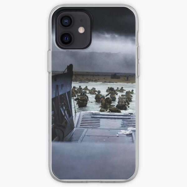 Men of the 16th Infantry Regiment, U.S. 1st Infantry Division wade ashore on Omaha Beach on the morning of 6 June 1944 #DDay iPhone Soft Case
