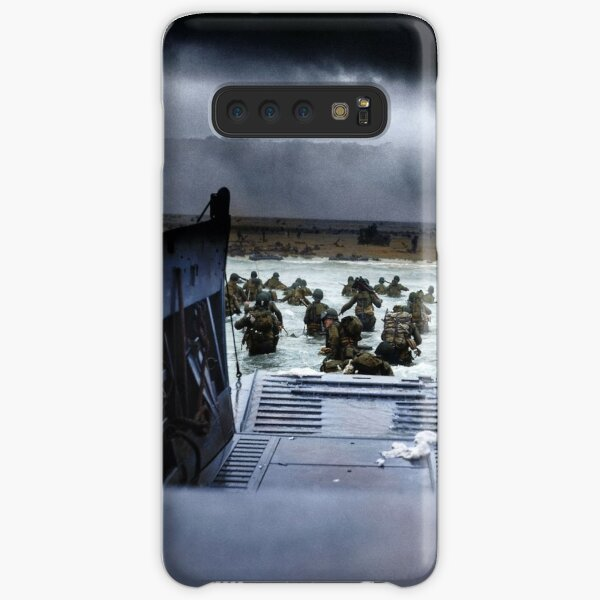 Men of the 16th Infantry Regiment, U.S. 1st Infantry Division wade ashore on Omaha Beach on the morning of 6 June 1944 #DDay Samsung Galaxy Snap Case