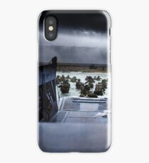 Men of the 16th Infantry Regiment, U.S. 1st Infantry Division wade ashore on Omaha Beach on the morning of 6 June 1944 #DDay iPhone Case