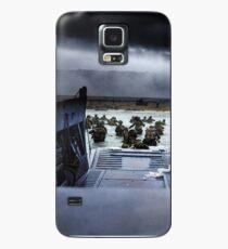 Funda/vinilo para Samsung Galaxy Los hombres del 16. ° Regimiento de Infantería, 1. ° División de Infantería de los EE. UU. Desembarcan en la playa de Omaha la mañana del 6 de junio de 1944 #DDay