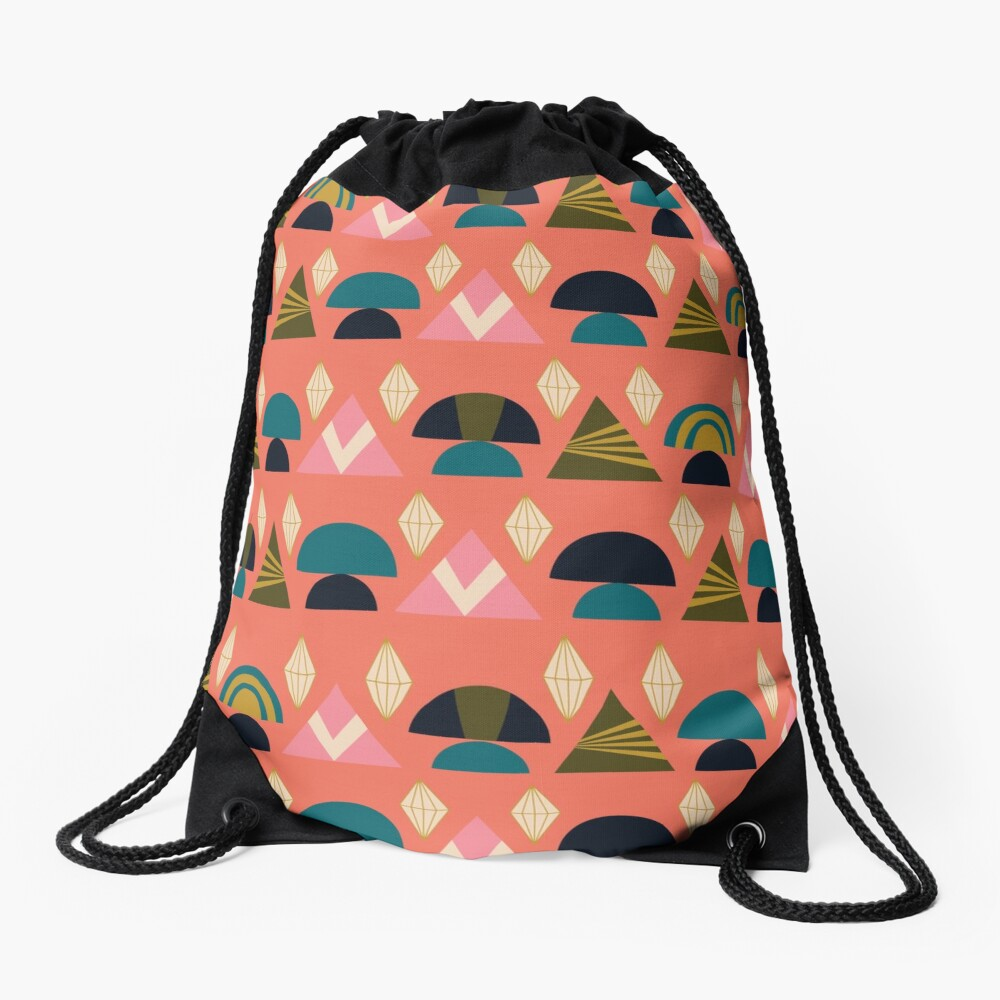 Geo Prints Drawstring Bag