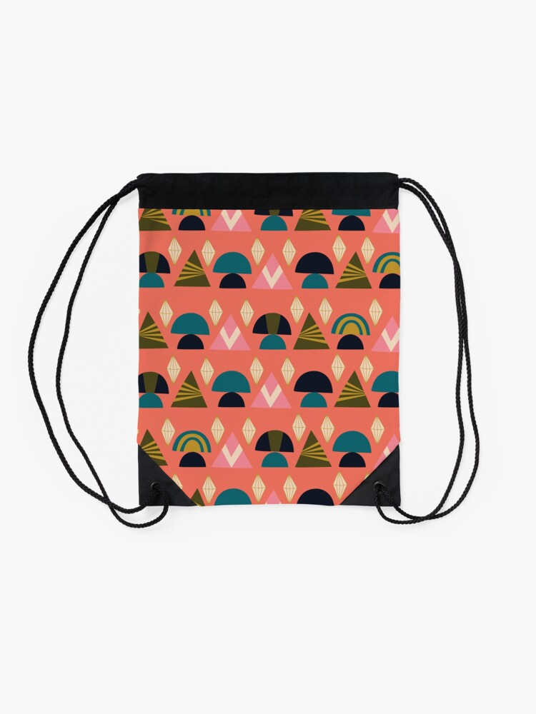 Alternate view of Geo Prints Drawstring Bag