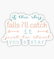 if the sky falls i'll catch it just to steal you a star Sticker