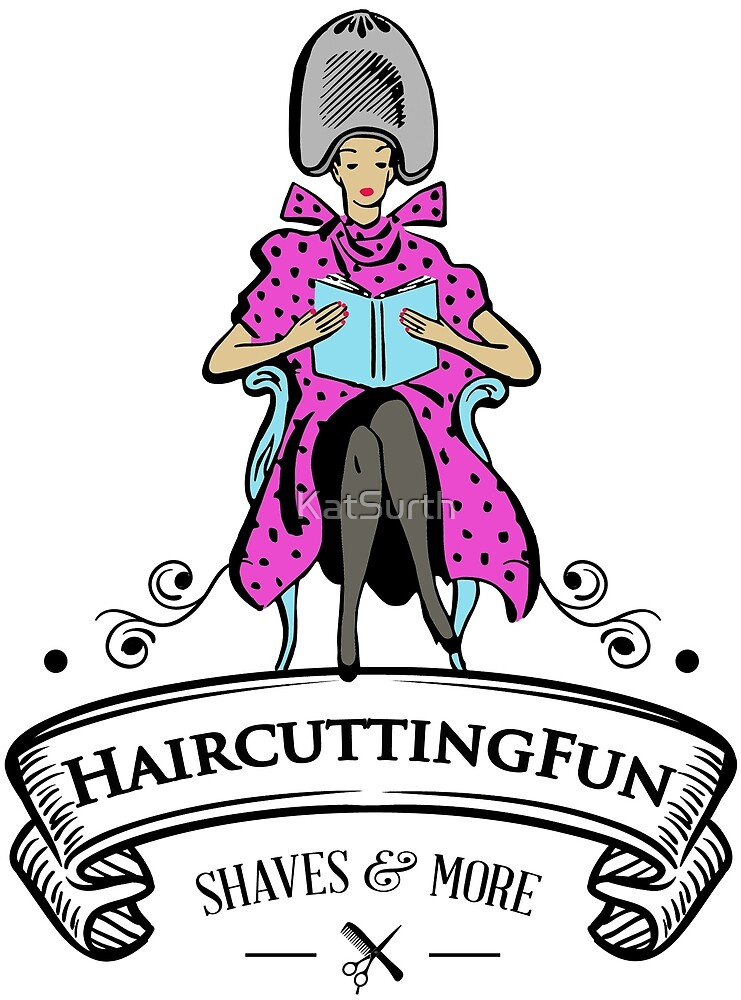 HaircuttingFun.com - Woman Under Dryer Logo by KatSurth