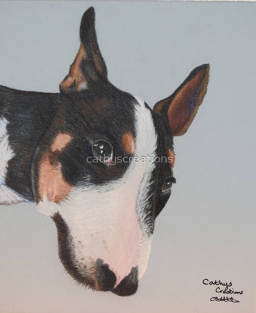 Hooch the Bull Terrier by cathyscreations