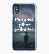 Winners Don't Quit Quote iPhone Case/Skin