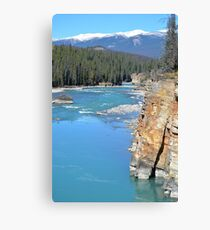 Photograph of the Athabasca River in Jasper National Park Canvas Print