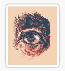 Hairy eyeball is watching you - Rötlich Sticker