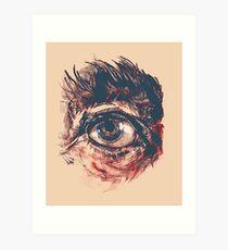 Hairy eyeball is watching you - Rötlich Kunstdruck