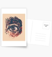Hairy eyeball is watching you - Rötlich Postkarten