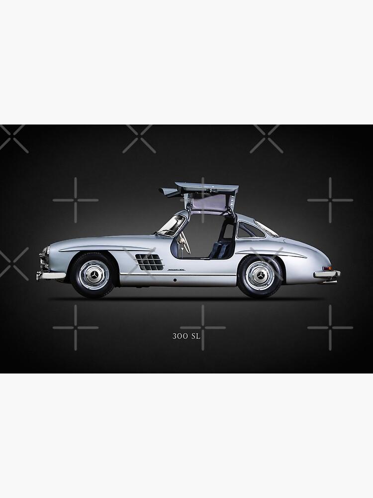 Leinwand Bild Mercedes 300 SL Legende Klassiker Auto Bilder Chrom 60er