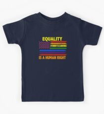 Equality Is A Human Right LGBT Flag T-Shirt Kids Clothes