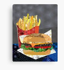 Cheese Burger and Fries Canvas Print