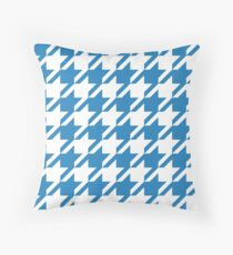 Belize Hole Houndstooth Pattern Throw Pillow
