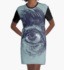 Hairy eyeball is watching you - Dunkelgrün T-Shirt Kleid
