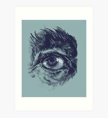 Hairy eyeball is watching you - Dunkelgrün Kunstdruck