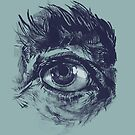 Hairy eyeball is watching you - Dunkelgrün von Daniela  Illing