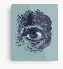 Hairy eyeball is watching you - Dunkelgrün Metalldruck