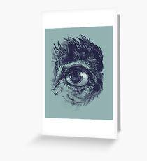 Hairy eyeball is watching you - Dunkelgrün Grußkarte
