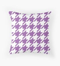 Amethyst Houndstooth Pattern Throw Pillow
