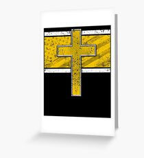 Police Dispatch Thin Gold Line Dispatcher Sheriff Deputy Gifts Greeting Card