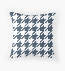 Wet Asphalt Houndstooth Pattern Throw Pillow