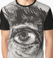 Hairy eyeball is watching you - warm grau Grafik T-Shirt