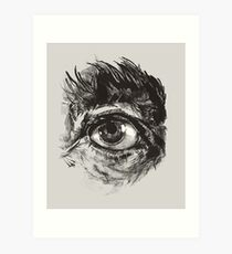 Hairy eyeball is watching you - warm grau Kunstdruck