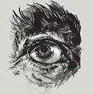 Hairy eyeball is watching you - warm grau von Daniela  Illing