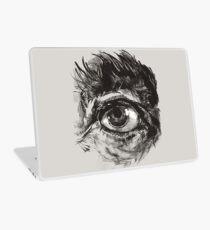 Hairy eyeball is watching you - warm grau Laptop Skin